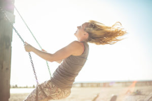 Woman on Swing