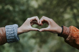 Couples Hands in Heart Shape